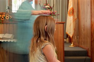 Reverend Jean heals Jennifer, Lily Dale, NY